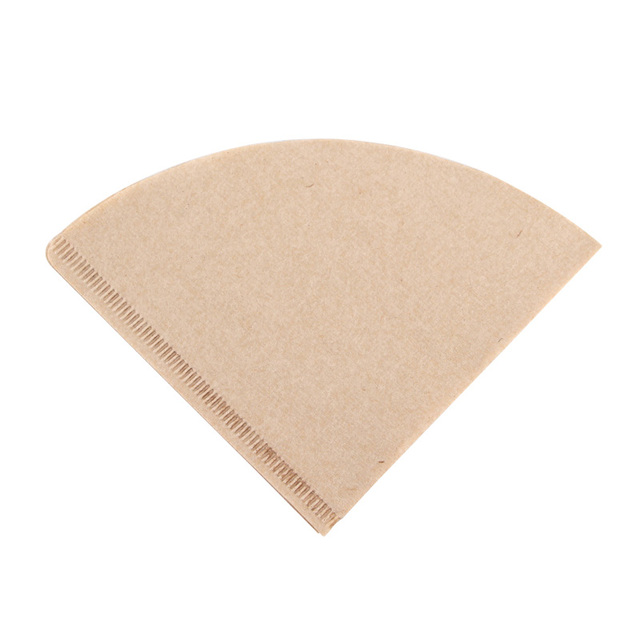 Coffee Filter Paper Unbleached 100% Natural Coffee Filter Paper V60 Style Coffee Maker Fits 1-2 Cups and 1-4 Cups 6