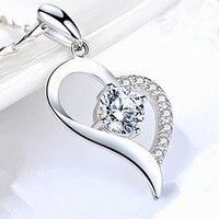 Coeur pendentif mode princesse collier pendentif collier AAA Zircon collier collier bijoux de fiançailles pour petite amie bijoux