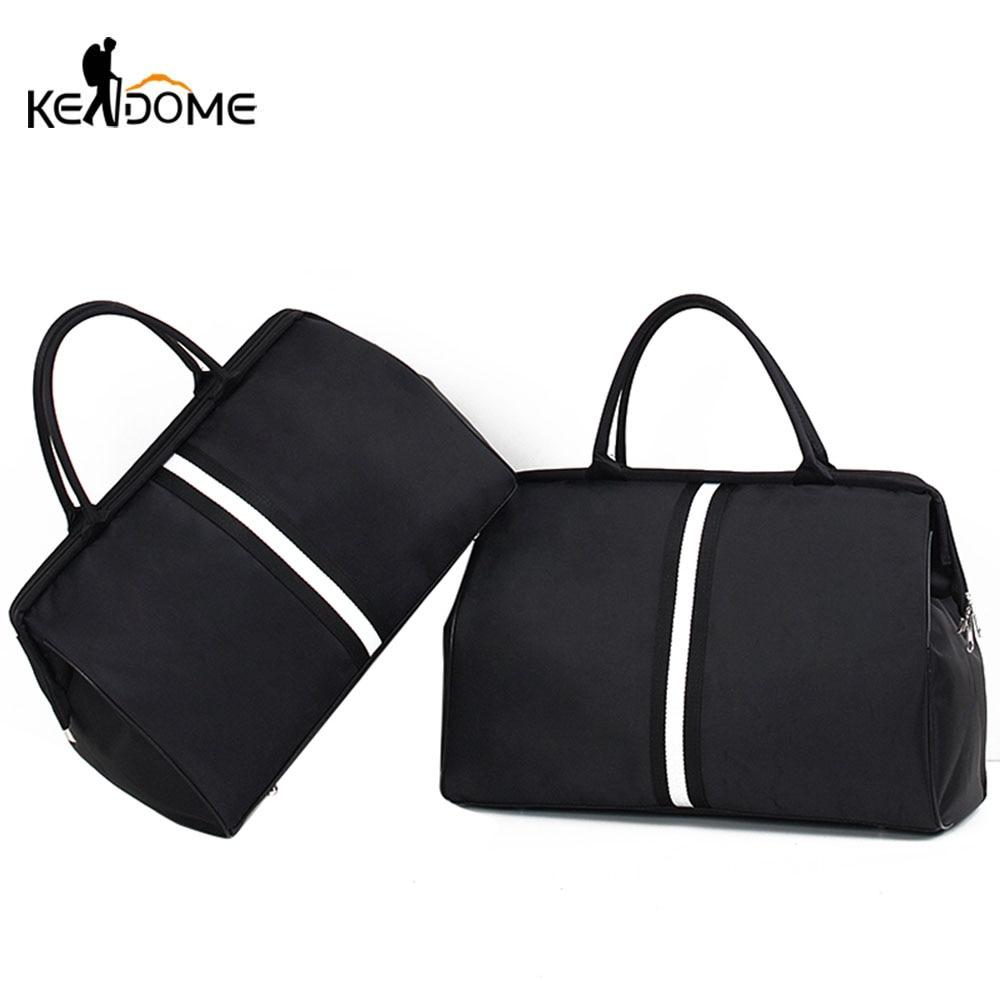 Sports Gym Bag Travel Handbag Women Traveling Bags Lady Luggage Tas Sac De Sport Duffle Gymtas 2020 Striped OutdoorB Ag XA286D
