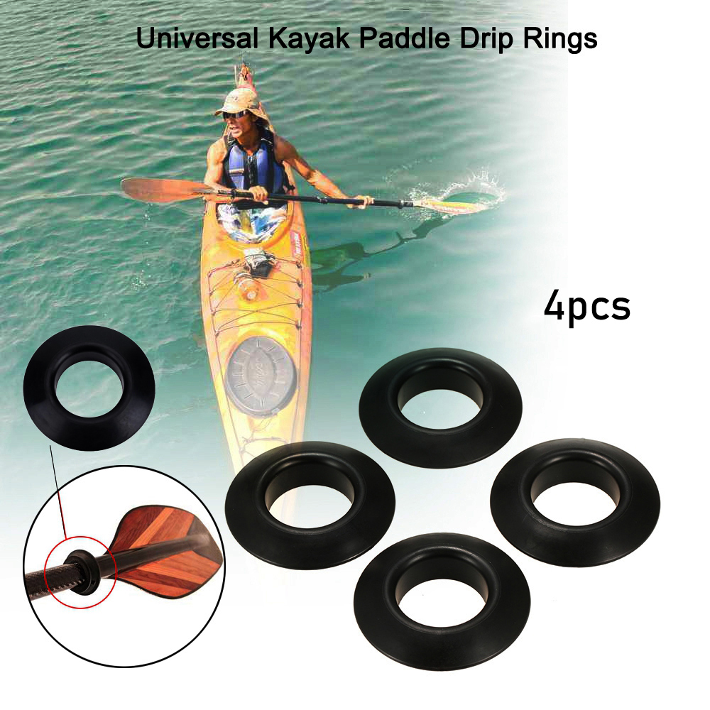 Andifany Marine Durable 4 Pieces D-Ring Pad Patch For Inflatable Boat Raft Dinghy Kayak Black Dinghy Surfboard Replacement Accessories