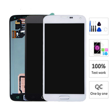LCDs For Samsung S5 i9600 G900 G900A G900F LCD Display Touch Screen Assembly Home Button Replacement for Galaxy S5