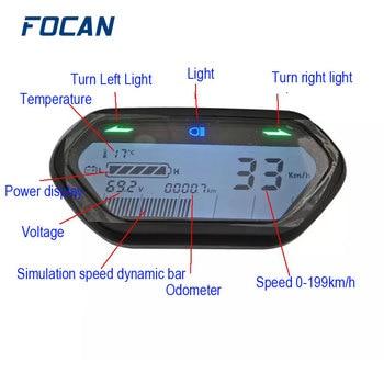 48V 60V 72V Universal electric Motorcycle Digital LCD Odometer Speedometer Tachometer