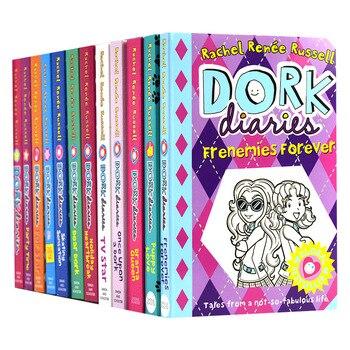 13 книг/набор дневники дорка комиксы романы книги дети английский чтение дневник глава история книга