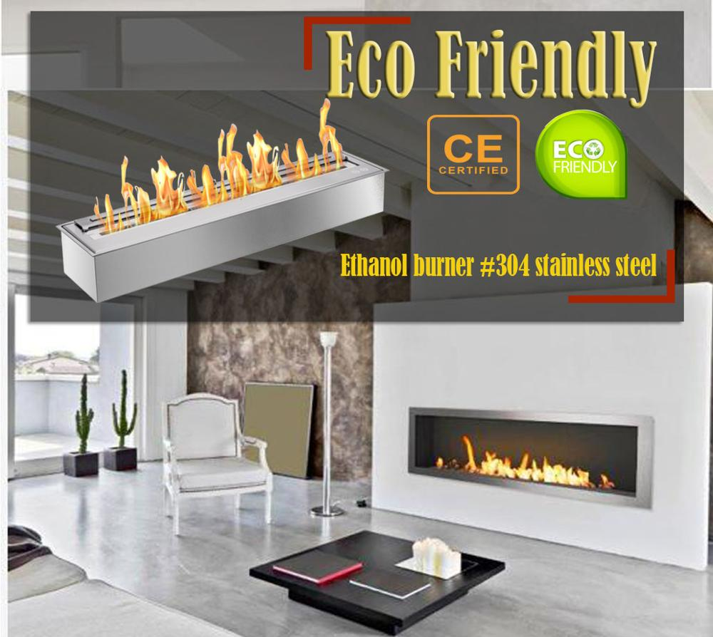 Hot Sale 48 Inch Stainless Steel Chimney Ethanol Fireplace Burner Insert