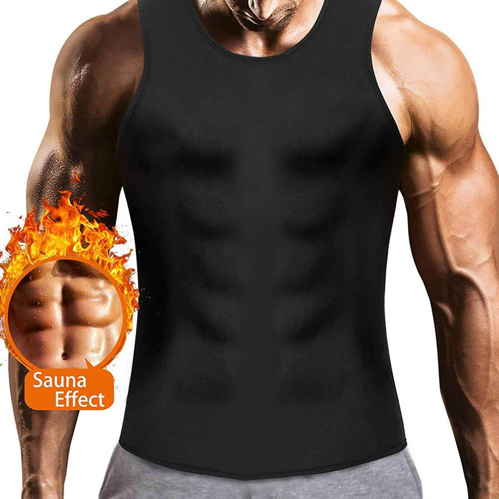 Profession Men's Slimming Body Shaper Vest Shirt Thermal Neoprene Slimming Tranier Tank Underwear Shapewear Clothing