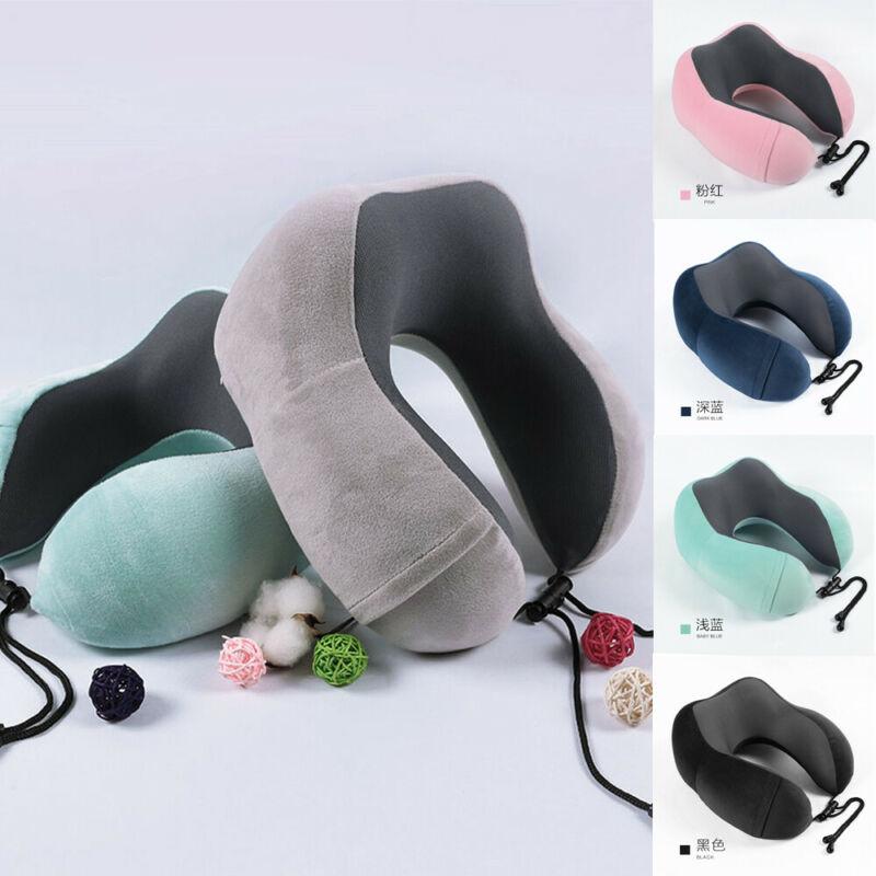 Memory Foam Rebound U Shaped Travel Pillow Neck Support Head Rest Car Travel Office Headrest U Shape Pillow in Travel Pillows from Home Garden