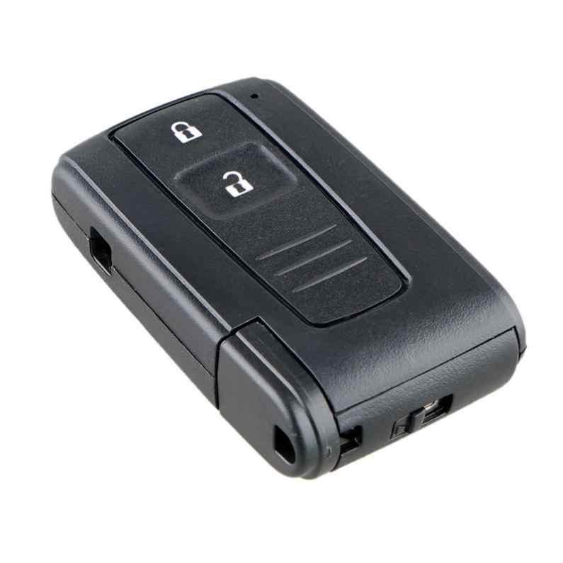 2 botões do carro remoto chave escudo com lâmina toy43 apto para toyota prius corolla verso