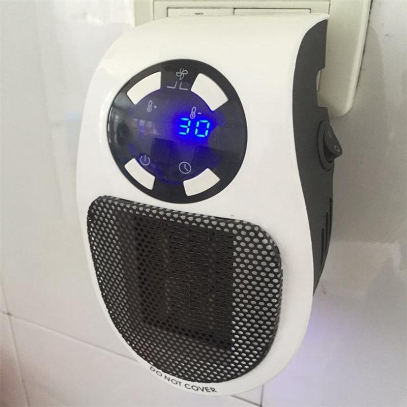 22%,Remote Electric Handy Heater 10A 220V 500W Fast Heating Mini Desktop Wall Stove Radiator Warmer Machine
