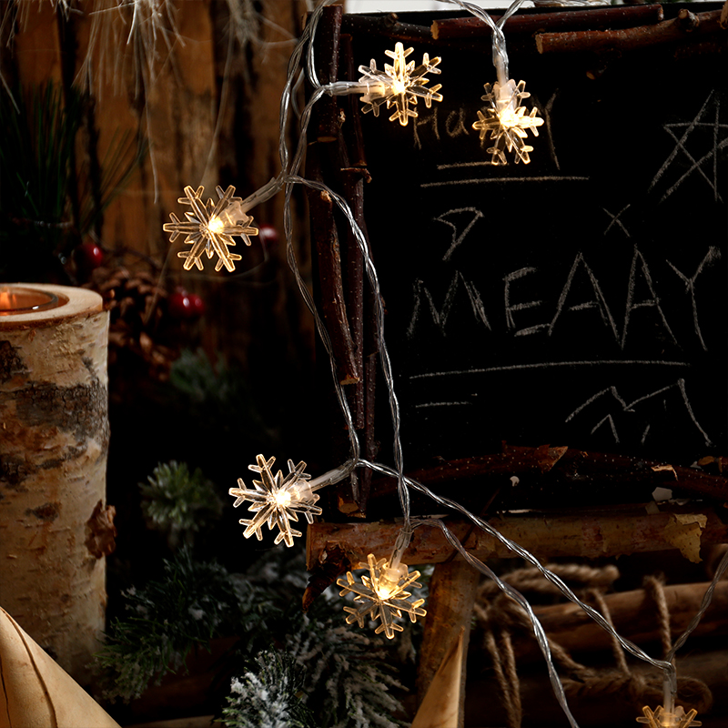 Snowflake String Christmas Tree Creative Decoration Supplies Christmas Shop Store Activities Scene Atmosphere Store Layout