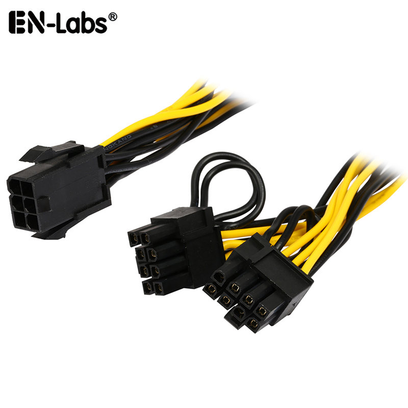 PCIe 6pin to <font><b>6</b></font> <font><b>2</b></font> <font><b>pin</b></font> PCI 8pin Adapter Splitter Power <font><b>Extension</b></font> <font><b>Cable</b></font>,Power Supply PCI-e <font><b>6</b></font>-<font><b>pin</b></font> to 8-<font><b>pin</b></font> for PCI Express GPU Video image