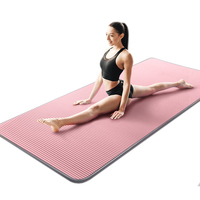 10mm Yoga Mat Carpet Edge-covered Non-slip Sports Tear Resistant NBR Fitness Mats Sports Gym Pilates Pads With Yoga Bag & Strap