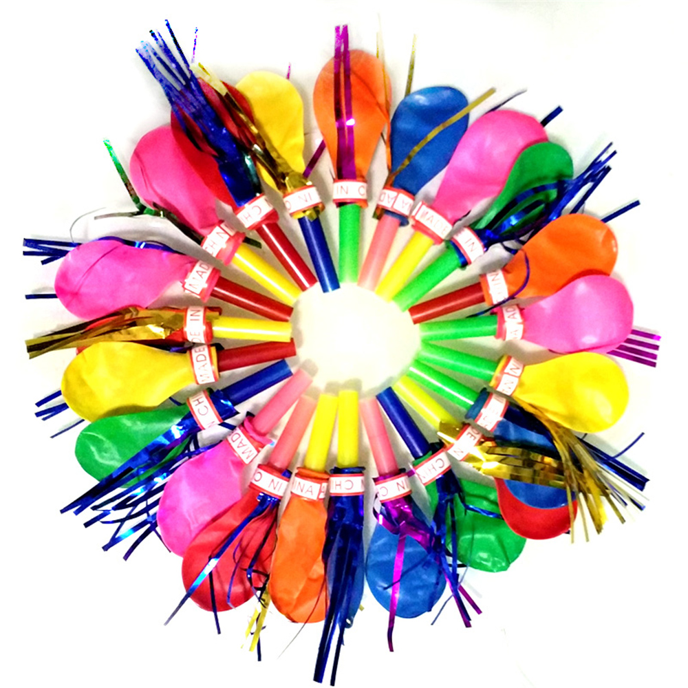 Permalink to Classic toy 50 pieces / bag balloon whistle toy for birthday wedding feast material color 20cm decoration
