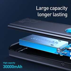 Image 5 - Baseus 30000MAh Power Bank Quick Charge 3.0 USB PD Fastชาร์จแบบพกพาPowerbank External Battery Packสำหรับสมาร์ทโฟนแล็ปท็อป