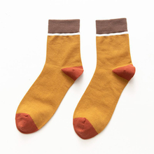 40 PCS wholesale combed cotton socks color matching mens casual fashion