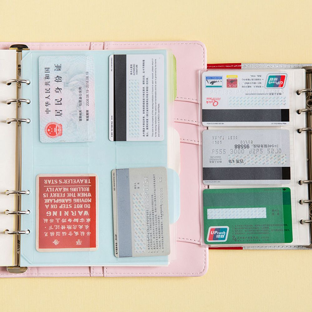 1Pcs A5/A6 Transparent Zip Lock Envelope Binder Pocket Refill Organiser Stationery Examination Office School Stationery