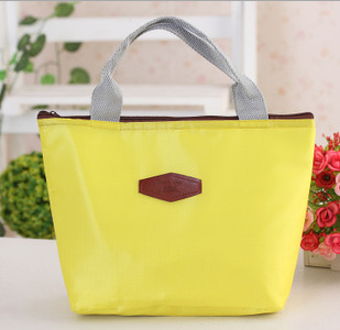 Korean-style Solid Color Hand Insulated Bag Bento Box Bag Afternoon Tableware Fresh-keeping Bag Lunch Bag Cute Ice Cold Insulati
