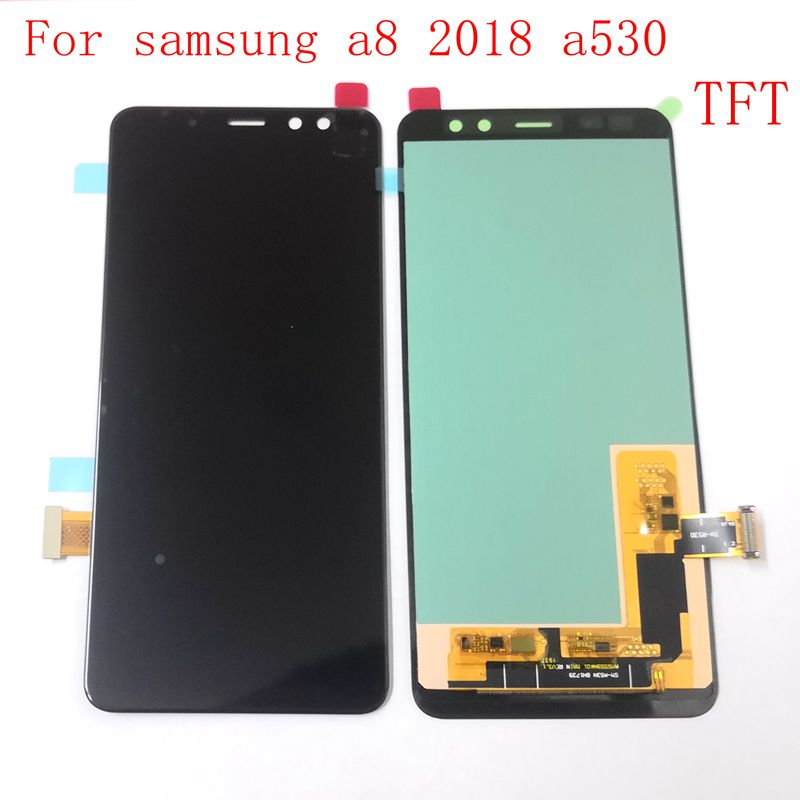 Oled / TFT For <font><b>Samsung</b></font> Galaxy A8 2018 A530 SM-A530 <font><b>A530F</b></font> <font><b>A530F</b></font>/ds Lcd <font><b>screen</b></font> Display+Touch Glass Digitizer Assembly image