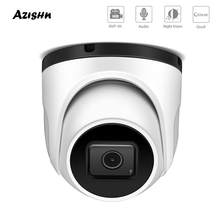 AZISHN Vandalproof Dome H.265+ 4K 8MP SONY IMX415 POE IP Camera Metal Waterproof Audio Surveillance CCTV Camera POE48V ONVIF