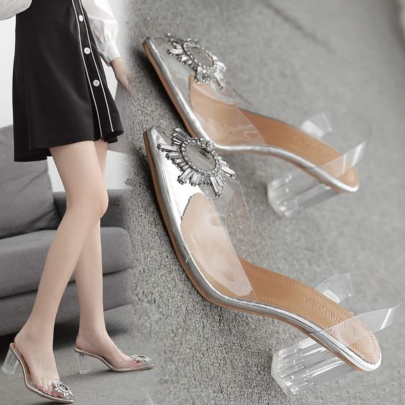 Обувь на высоком каблуке 2020 модная обувь новый стиль универсальная