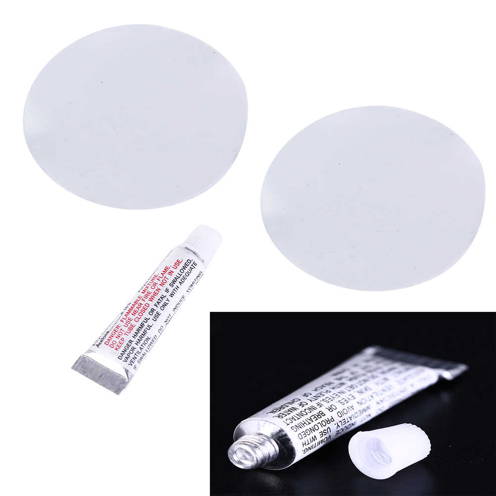 1Pcs+2 * PVC patch film PVC Puncture Repair Patch Glue Kit Adhesive For Inflatable Toy Swimming Pools Float Air Bed Dinghies