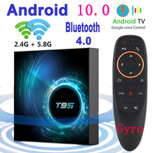 2020 Latest T95 Smart Tv Box Android 10 6k 2.4g & 5g Wifi Bluetooth 4.0 4g 16g 32gb 64gb 4k Quad Core Set-Top Box Media Player