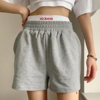 womens sport shorts grey sweat shorts