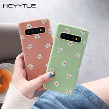 Heyytle Daisy Floral Flower Case For Samsung Galaxy S10 Plus S9 S8 Ultra Thin Soft TPU Note 8 9 Full Cover Coque