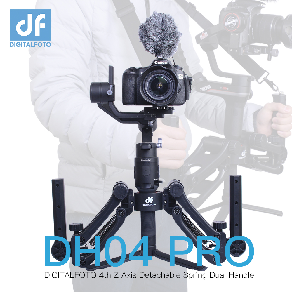 DH04-PRO 3 Axis Gimbal Stabilizer Spring Dual Handle 4.5kg Bear With Strap For RONIN S Ronin SC WEEBILL S&LAB CRANE 3 Moza Air 2