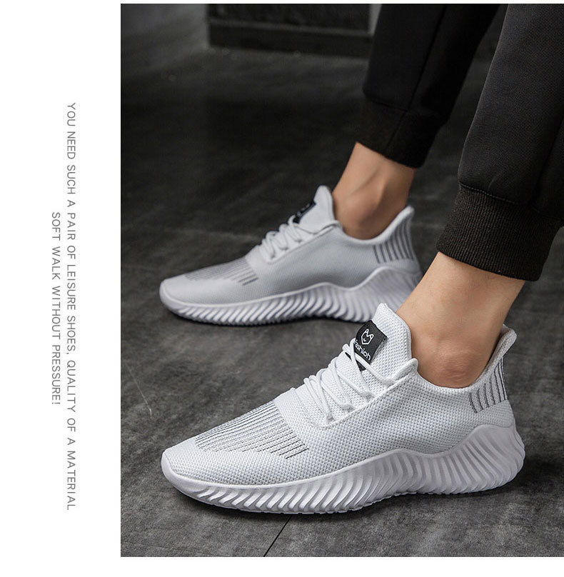 Hot Sale New Mesh Men Shoes Breathable White Men's Sneakers Lac-up Lightweight Black Walking Man Tenis Shoes Zapatillas Hombre