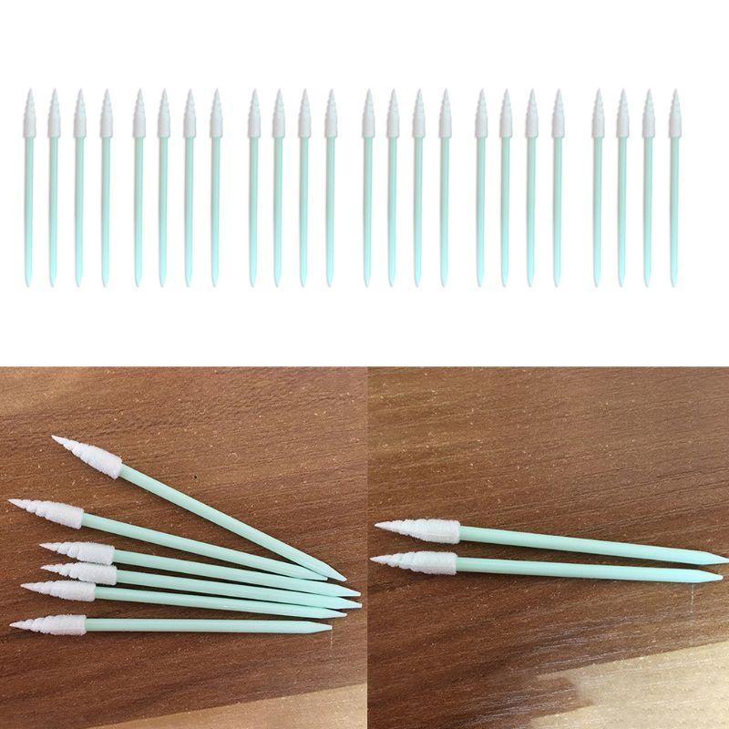 100Pcs/Pack Spiral Pointed Tipped Foam Cleaning Swab Lint Free Sponge Sticks Q0KD