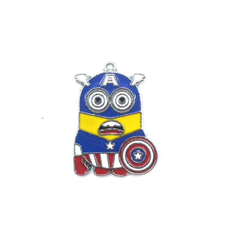 Wholesale Lot Cartoons Captain America Metal Charms Jewelry Making Pendants L439