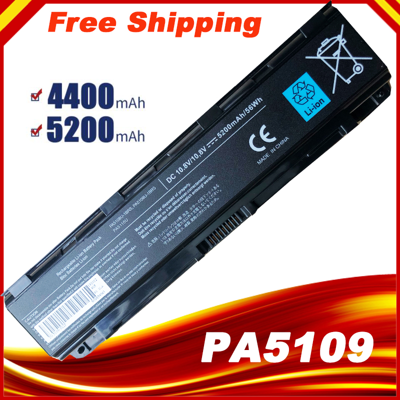 New 6 cells Laptop Battery PA5108U-1BRS PA5109U-1BRS PA5110U-1BRS For <font><b>Toshiba</b></font> C40 C45 C50 <font><b>Satellite</b></font> <font><b>C55</b></font> C70 C75 series image