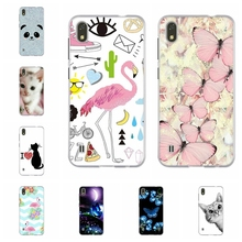 For ZTE Blade A530 Phone Case Soft TPU Silicone Cover Flamingo Patterned Bumper Coque