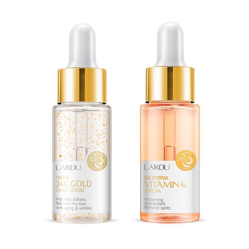 NEW Serum Japan Sakura Hyaluronic Acid Pure 24K Gold Whitening Vitamin C Skin Care Face Serum