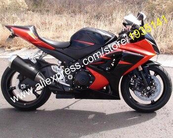 For Suzuki GSX-R1000 K7 07 08 GSXR1000 GSX R1000 GSXR 2007 2008 Red Black Motorcycle aftermarket Fairing kit (Injection molding)