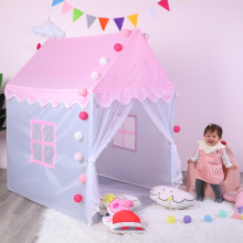 Children's Tent Portable  Folding Kids Tents Tipi Baby Play House Large Girl Pink Princess Castle Indoor Outdoor Toys Gift