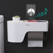 Simple Style Toilet Paper Holder Wall-mounted Bathroom Storage Rack Roll Paper Storage Box Bathroom Shelf WC Toilet Paper Holder