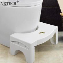 พับ Squatting สตูล Non slip ห้องน้ำสตูลวางเท้าป้องกันท้องอุจจาระห้องน้ำที่นั่งห้องน้ำสตูลเท้า Dropshipping