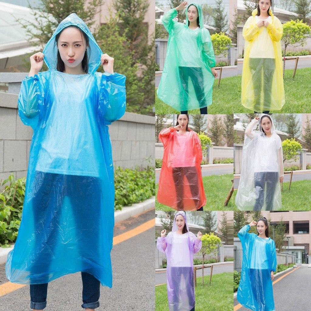 10PC плащ женский дождевик женский blouse jetable дождевик мужской raincoat impermeable rain coat Unisex Disposable Portable Z4(China)