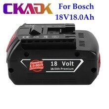 Batterie de secours BAT609 portable, 100% d'origine, voyant lumineux, pour Bosch 18V18000mAh, 2 pièces