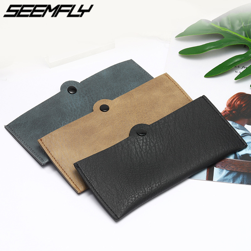 Seemfly Men Women Portable PU Leather Glasses Case Cover Eyeglasses Box Sunglasses Reading Glasses Pouch Bag Holder Accessories