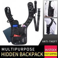 Anti-theft Versteckte Schulter Holster Brieftasche Achsel Rucksack Sicherheit Lagerung Achselhöhle Tasche Holster Tasche für Arbeit Reisen Im Freien