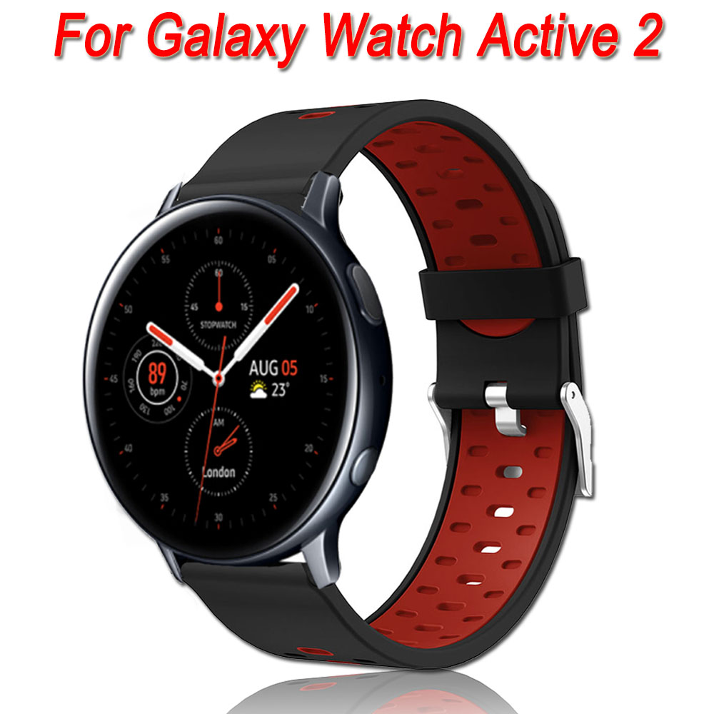 Silicone Band Strap For Samsung Galaxy Watch Active 2 40mm 44mm Replacement Sport Bracelet Watchband Wristband Active2 Gear S2