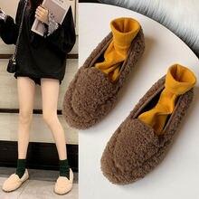 Новинка Женская обувь осень зима плюс бархатная теплая подходящая