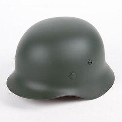 M35 casco cappello duro WW2 Seconda Guerra Mondiale Tedesco guerra in acciaio in acciaio casco casco esercito attività all'aria aperta