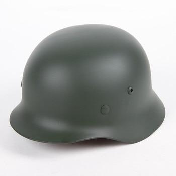 M35 helmet hard hat WW2 World War II German war steel helmet steel helmet army outdoor activities militech usa m1 replica helmet with abs inner helmet ww2 m1 double decker helmet world war 2 usa army safety helmet motorcycle