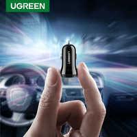 Ugreen Mini USB Caricabatteria Da Auto Per Il Telefono Mobile Tablet GPS 4.8A Veloce Caricabatteria Da Auto-Caricatore Doppio Dell'automobile del USB Del Telefono adattatore del caricatore in Auto