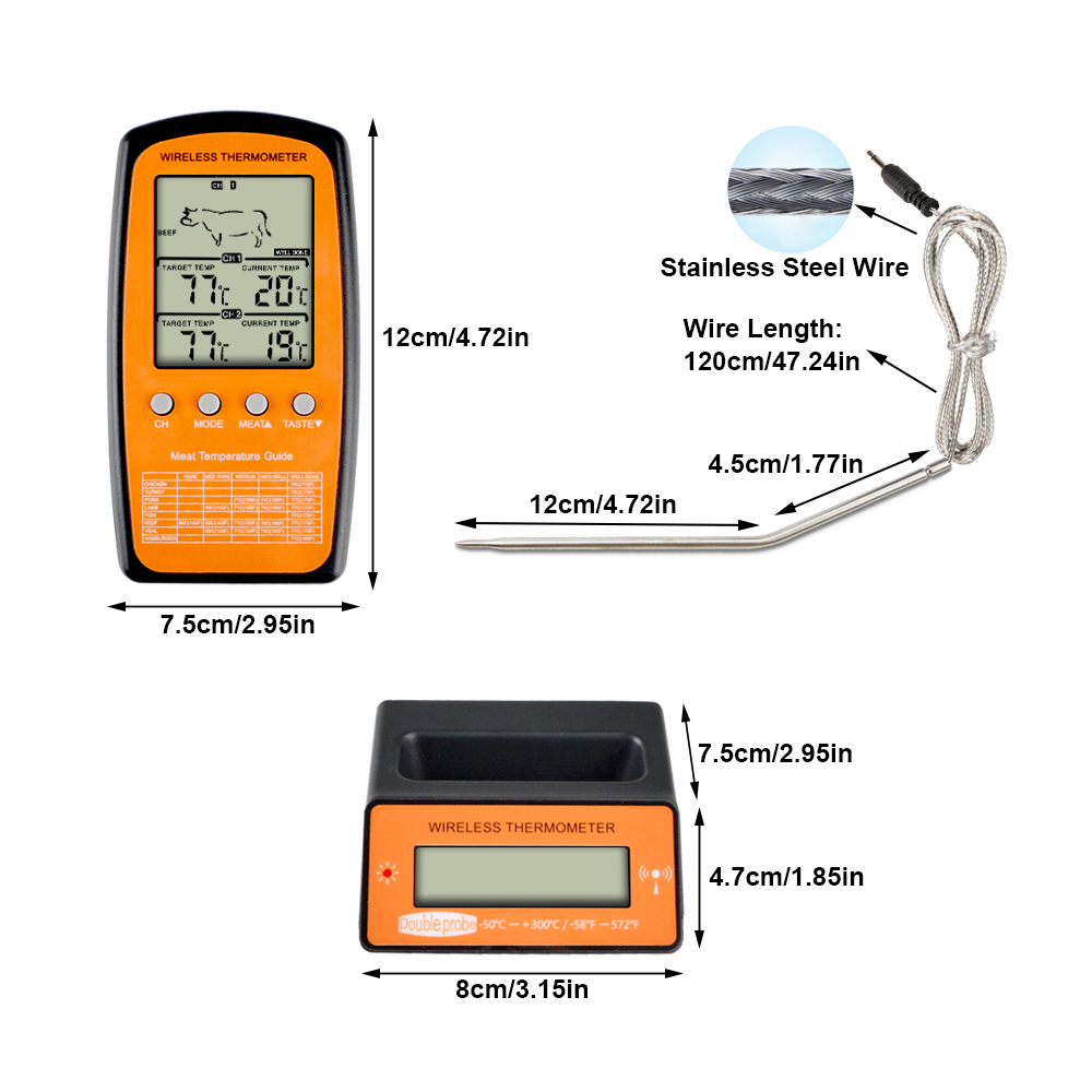 Image 5 - MOSEKO Dual Probe Digital Wireless Oven Thermometer For Meat 