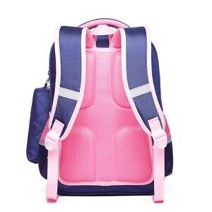 Image 2 - OKKID الأطفال الحقائب المدرسية للفتيات لطيف الكورية نمط الاطفال الوردي حقيبة العظام حقيبة المدرسة لصبي مقاوم للماء bookbag هدية
