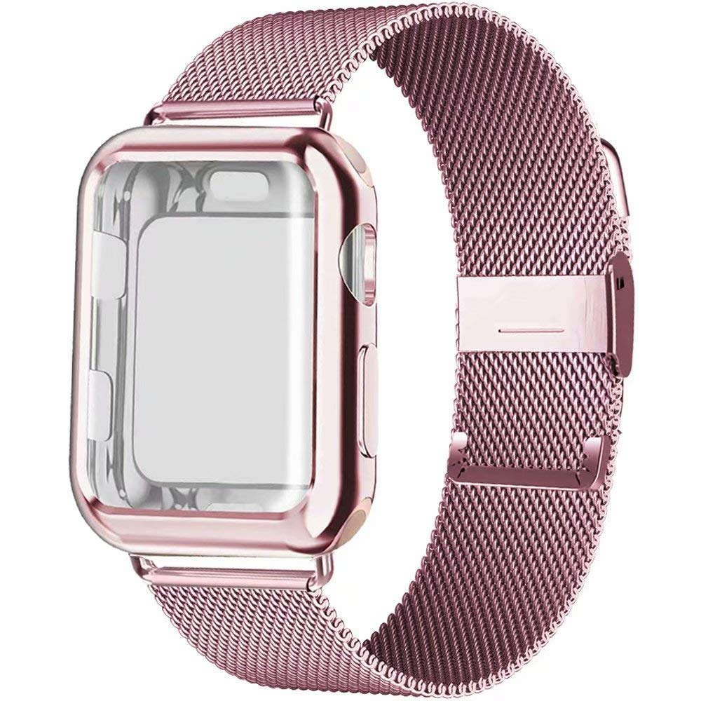 Case+strap For Apple Watch Band 44 Mm 38mm IWatch Band 42mm 40mm Stainless Steel Milanese Loop Pulseira Apple Watch 5 4 3 2 1 38